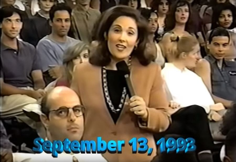 Ricki Lake in the debut episode of her talk show, 1993.
