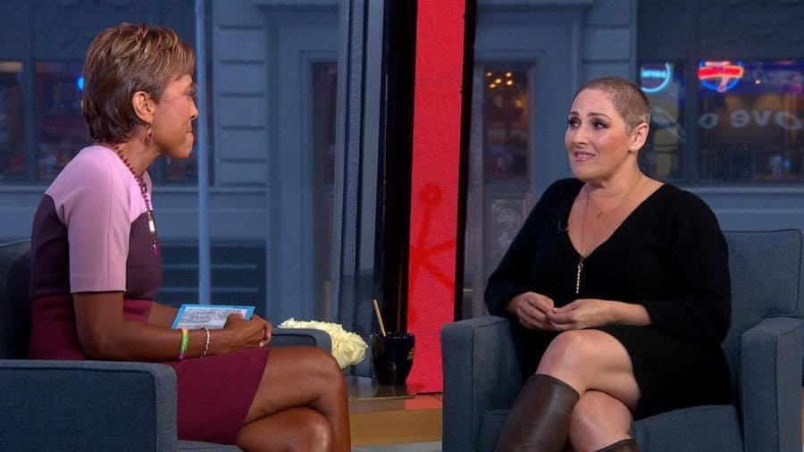 Ricki Lake on 'Good Morning America' show, where she also discussed her struggle with hair loss.