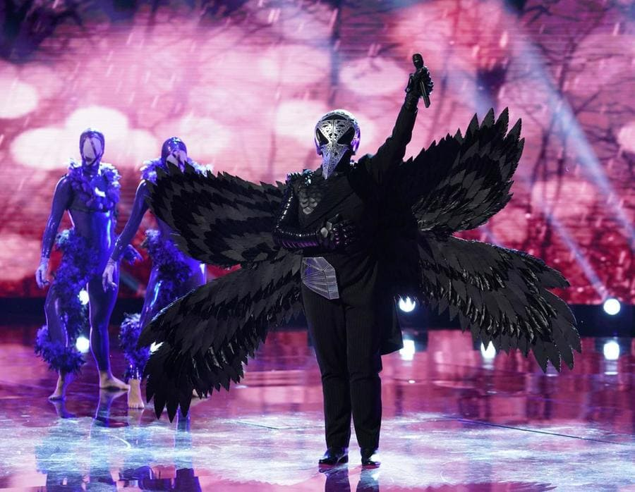 Ricki Lake as the raven on The Masked Singer.