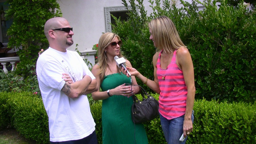 Brandi being interviewed with Jarrod in 2011.