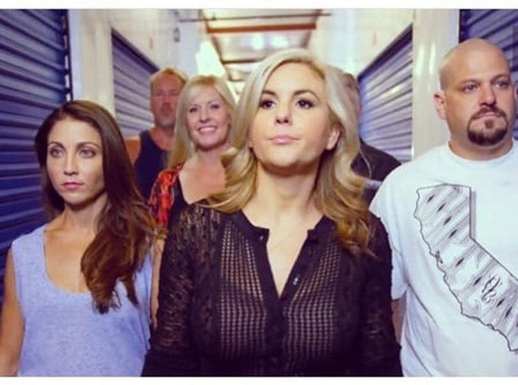 Brandi Passante was walking down the hallway with the cast of Storage Wars.