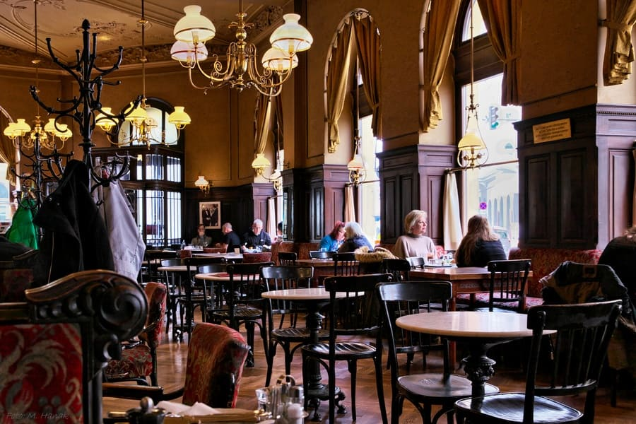 Old fashioned style coffee house in Austria
