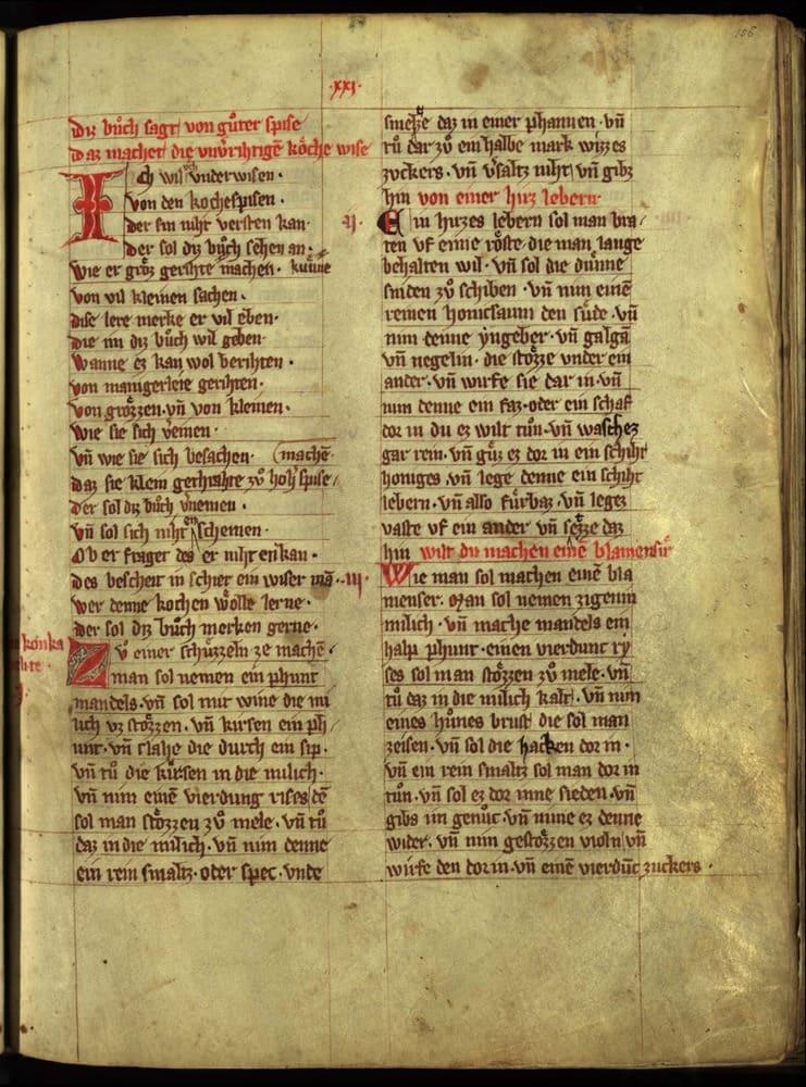 The inside of Daz Buch von Guter Spise.