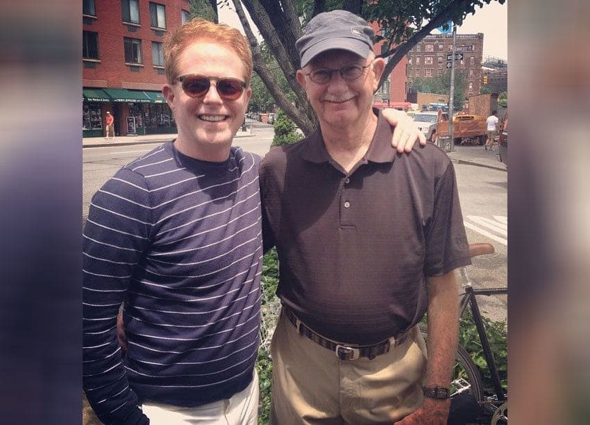 Jesse Tyler Ferguson and his father are spending the day together.