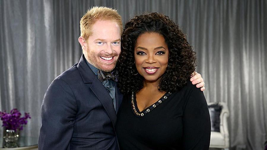 Jesse Tyler Ferguson and Oprah.