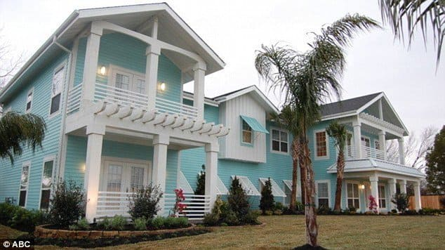 The Home that was remodeled by Extreme Makeover: Home Edition for Larry and Melissa Beach