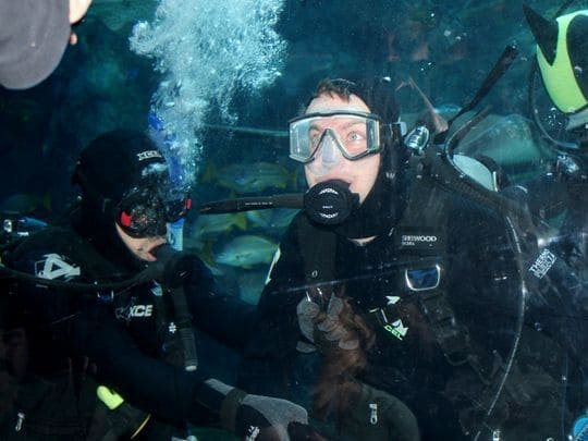 Brian Keefer learned how to scuba dive