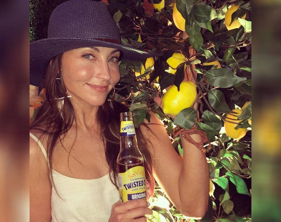 Mary Padian drinking Twisted Tea