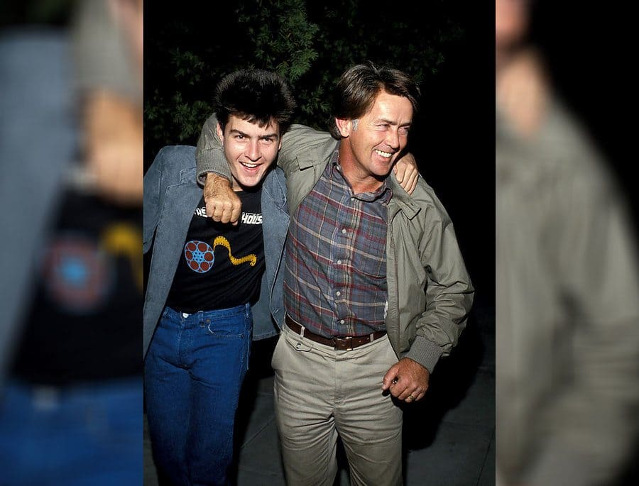 Charlie Sheen and Martin Sheen 1984