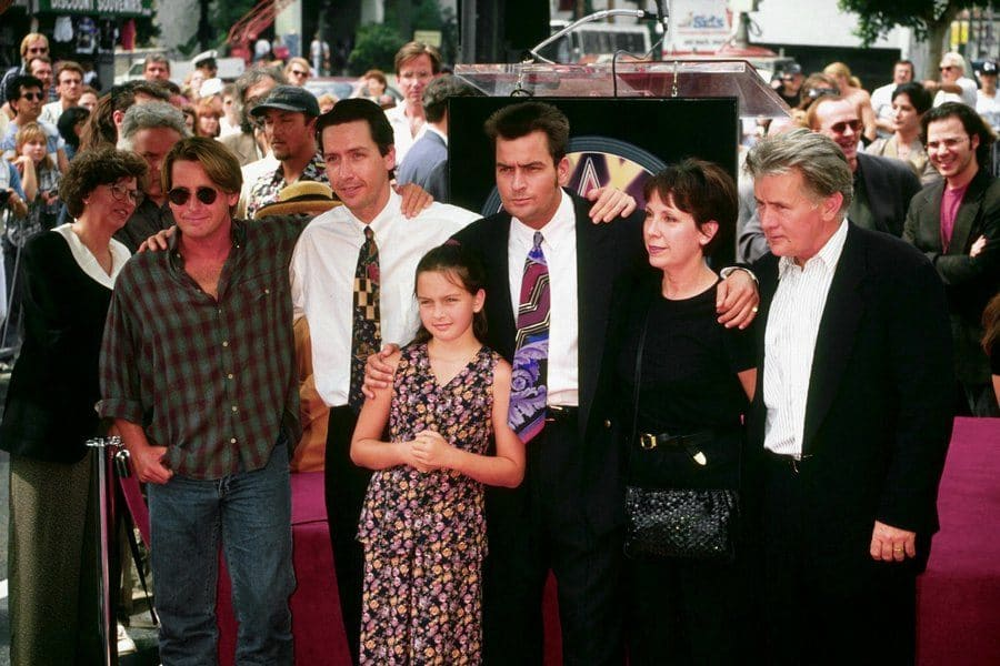 Emilio Estevez, Ramon Estevez, Charlie Sheen, and Martin Sheen