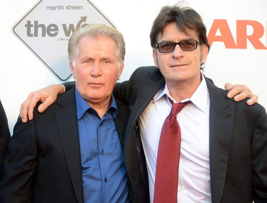 Martin Sheen and Charlie Sheen, 2011.