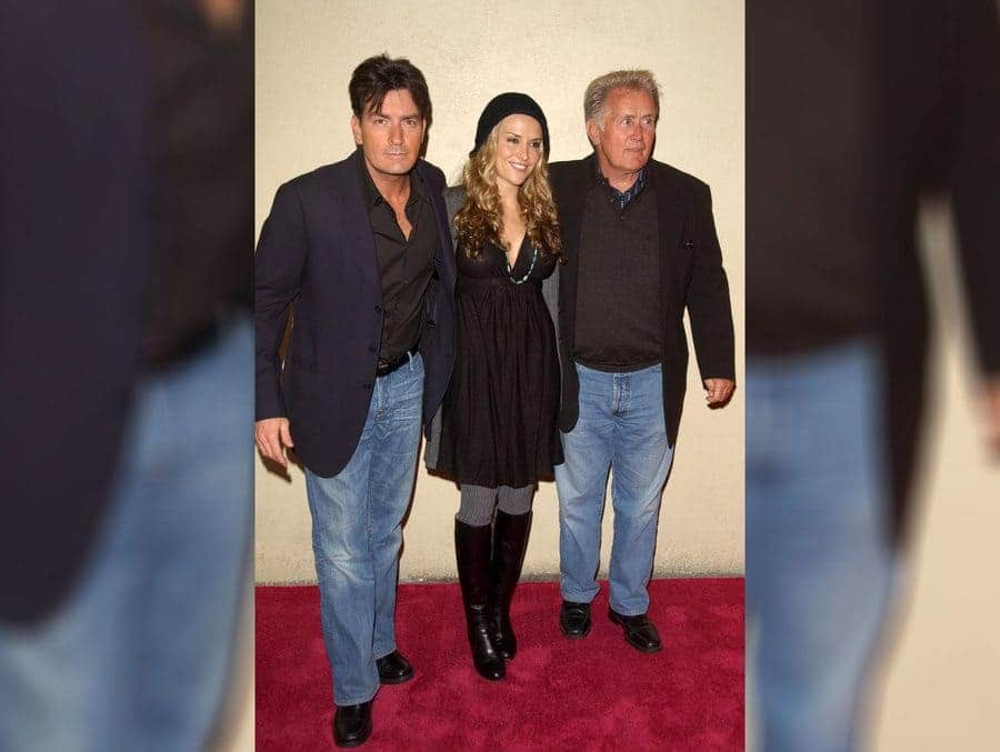 Charlie Sheen, Brooke Mueller, and Martin Sheen