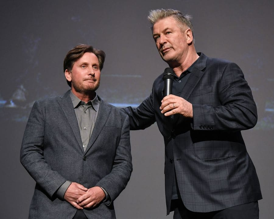 Emilio Estevez and Alec Baldwin
