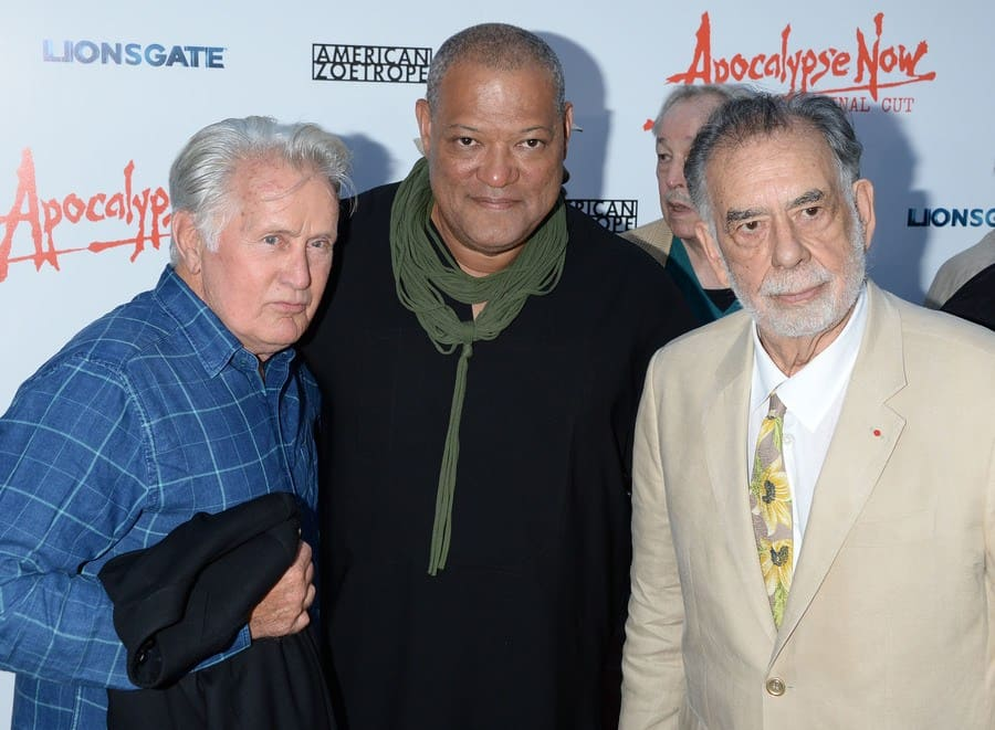 Martin Sheen, Laurence Fishburne, and Francis Ford Coppola