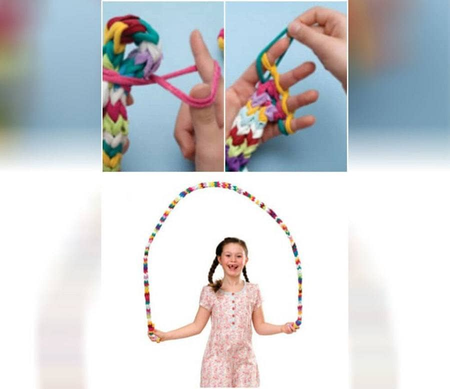 Making a jump rope from a sock