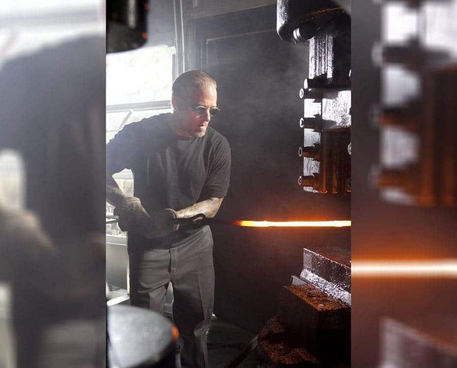 Jesse James is welding