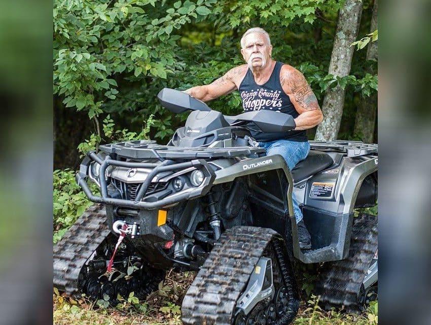 Paul Sr. on an ATV