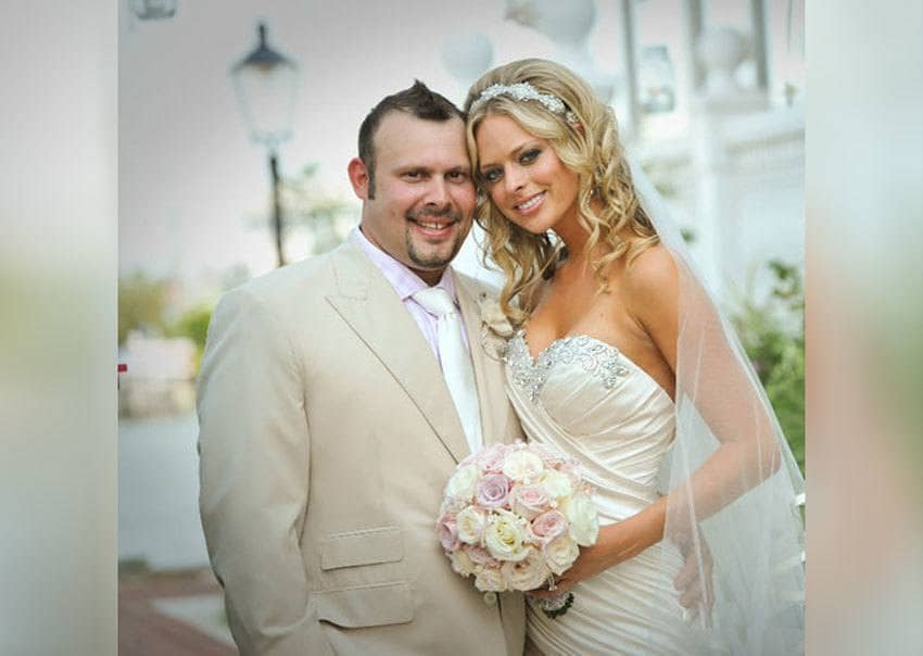 Paul Jr. and Rachael at their wedding