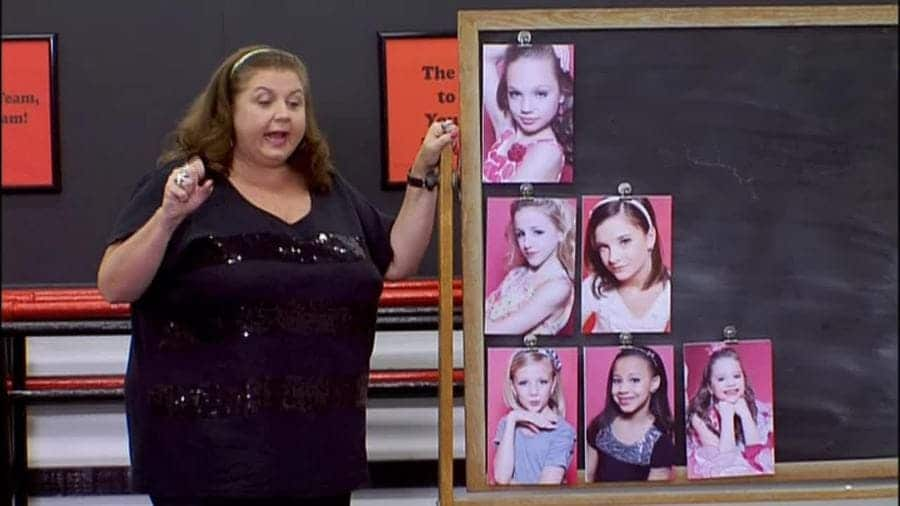 The first-ever pyramid which Abby Lee pinned up on the blackboard.