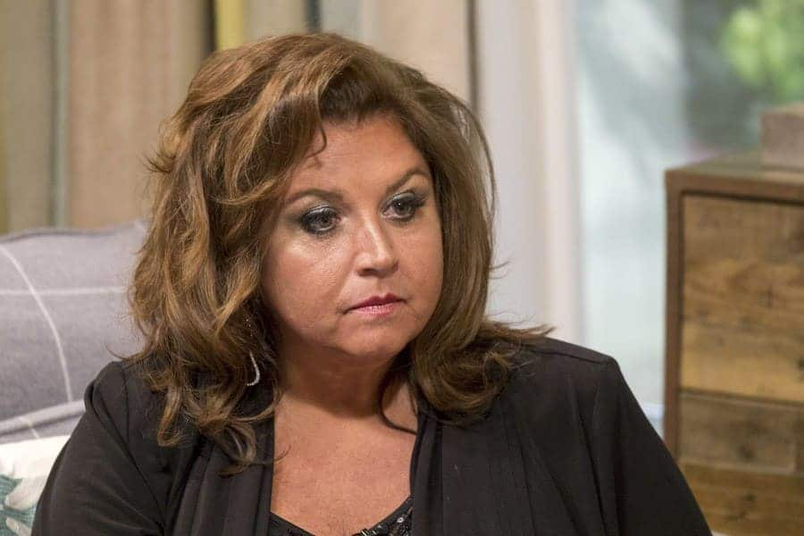 Abby Lee Miller being interviewed on 'This Morning' with a serious look on her face.
