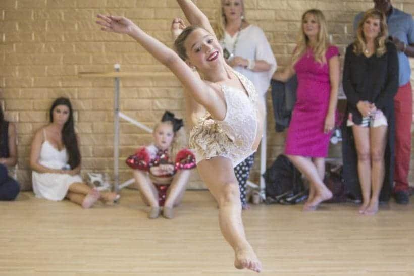 Mackenzie Ziegler is pictured dancing in a promo shot for season 5 of 'Dance Moms.'