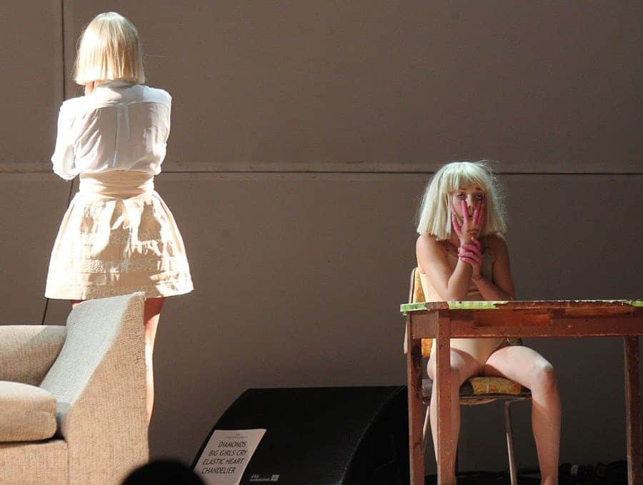 Maddie Ziegler was performing with Sia at the Hollywood Bowl in 2014.