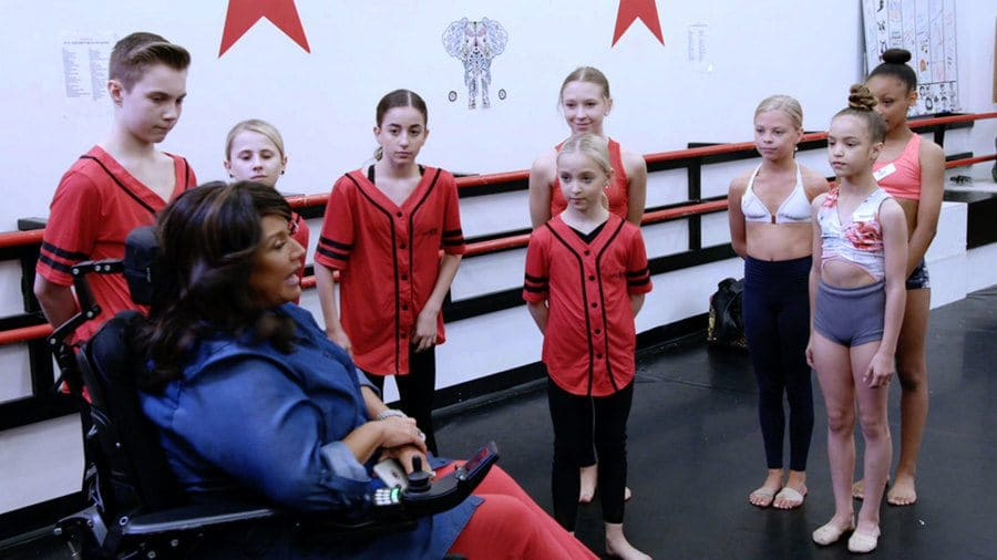 Abby Lee Miller instructing her students