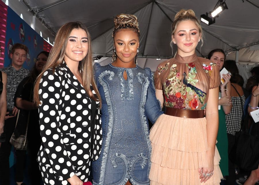 Kalani Hilliker, Nia Sioux, and Chloe Lukasiak at the Teen Choice Awards in 2017.