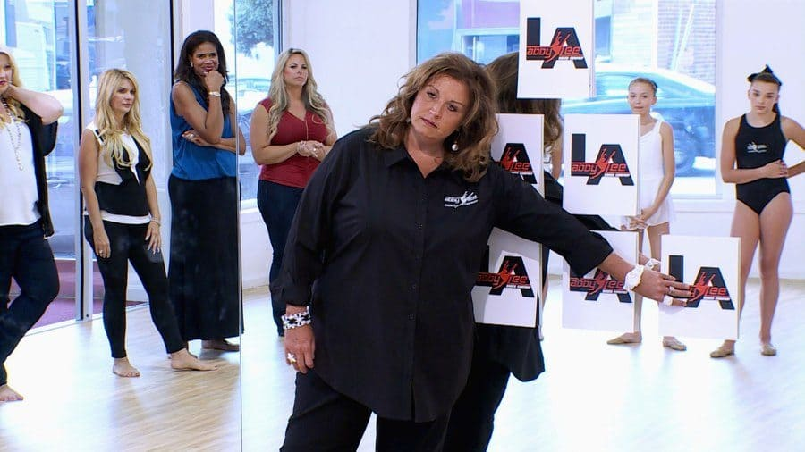 Abby Lee Miller is about to start the pyramid.