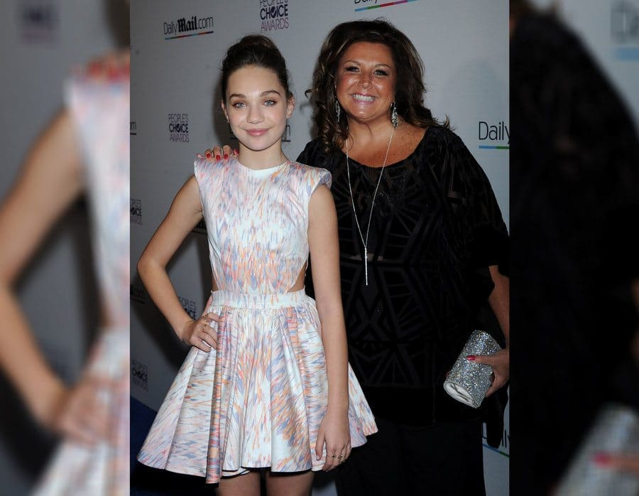 Maddie Ziegler and Abby Lee Miller at a People's Choice Awards after-party in 2016.