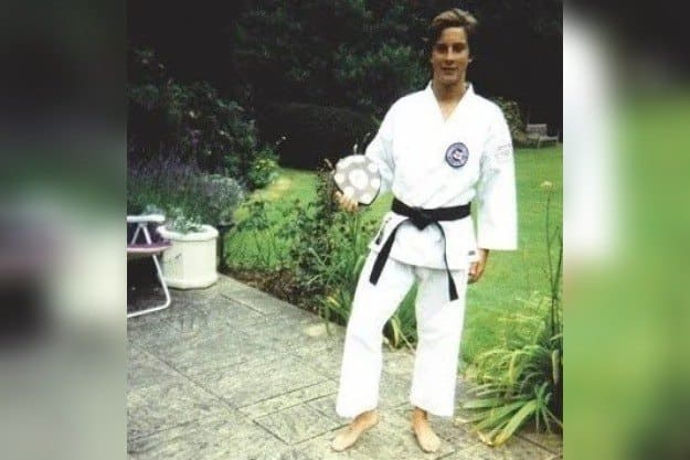 Grylls in his karate gear