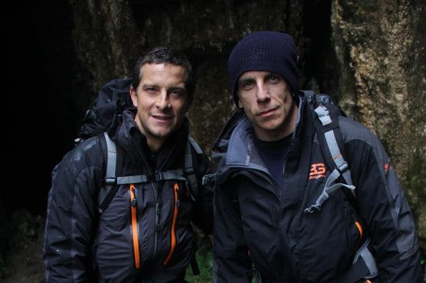 Bear Grylls and Ben Stiller in