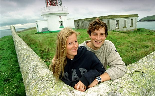 Bear Grylls and his wife on their private island