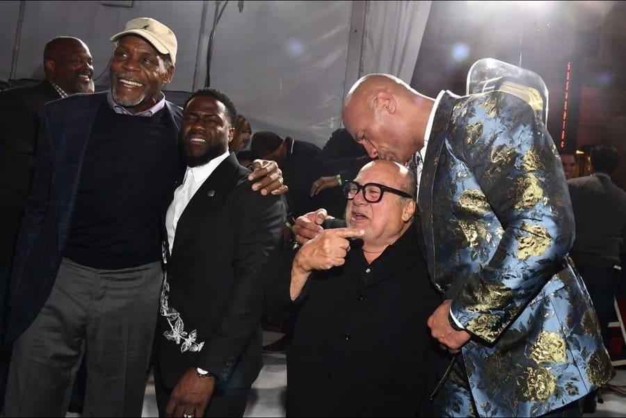 Danny Glover, Kevin Hart, Danny DeVito and Dwayne Johnson