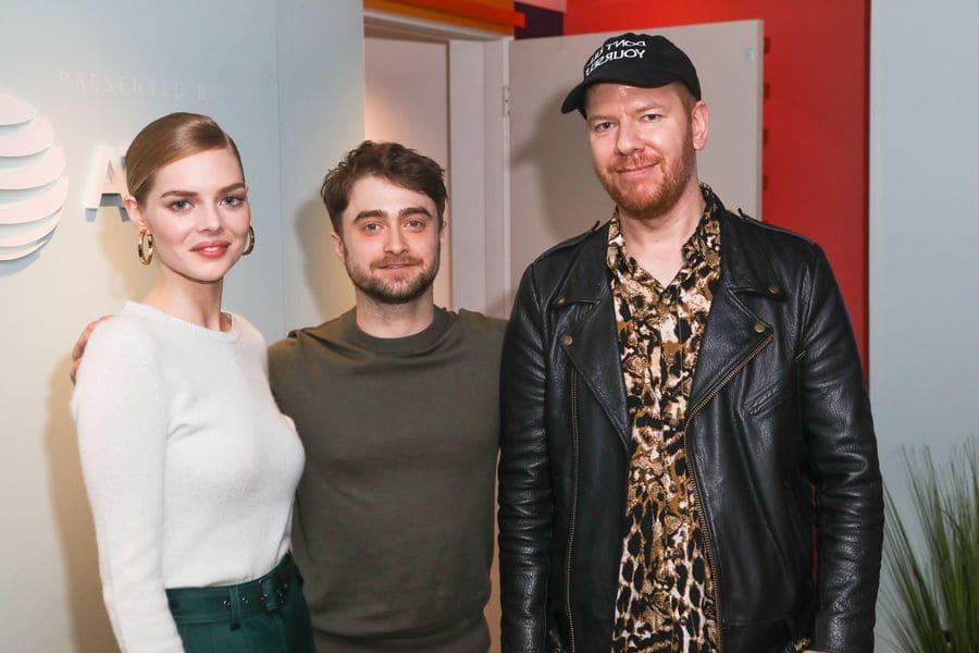 Samara Weaving, Daniel Radcliffe and Jason Lei Howden