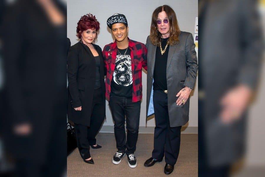 Sharon Osbourne, Bruno Mars and Ozzy Osbourne