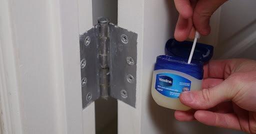 using Vaseline on squeaky door hinges