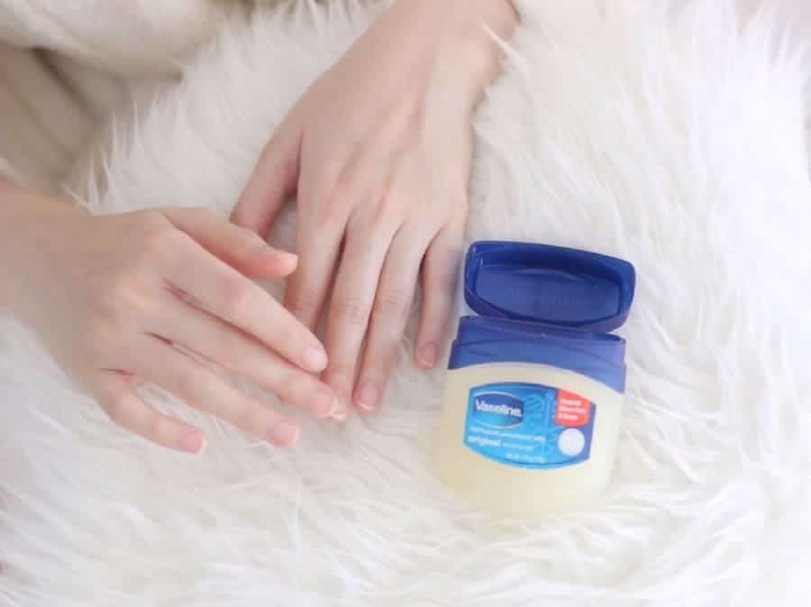 Doing Manicure with Vaseline