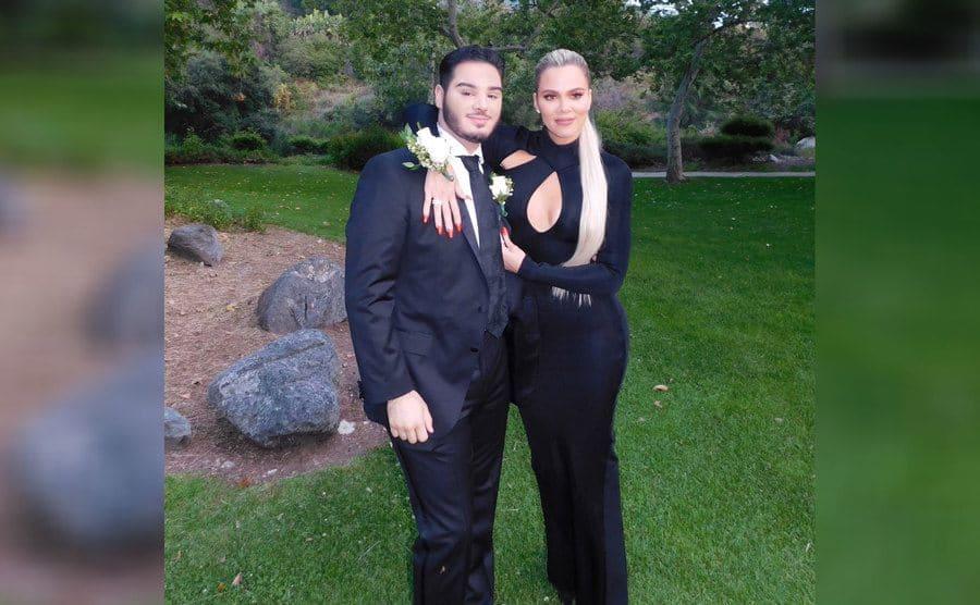 Khloe Kardashian and her prom date