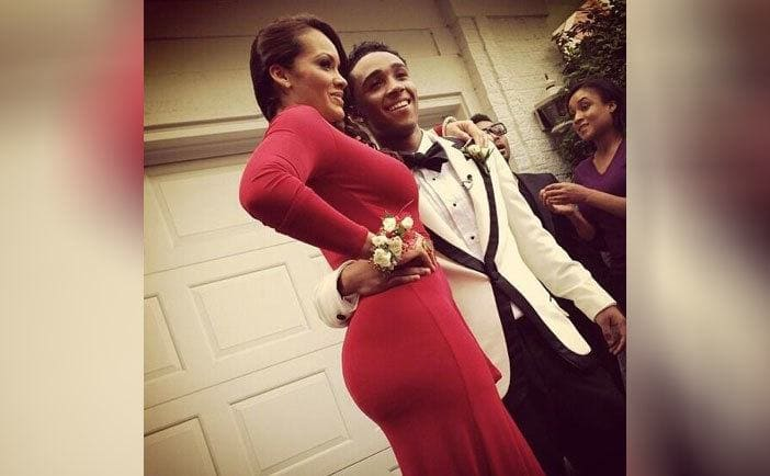 Evelyn Lozada and Anthony Nelson dressed for prom