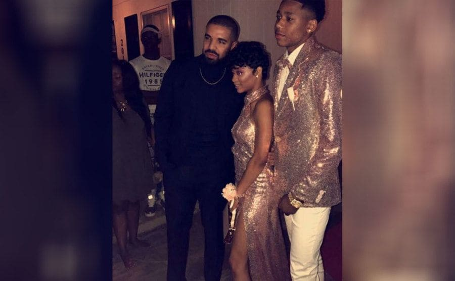 Drake, Jalaah Moore, and her date