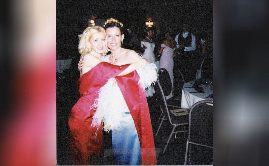 Christina Aguilera and her friend at prom