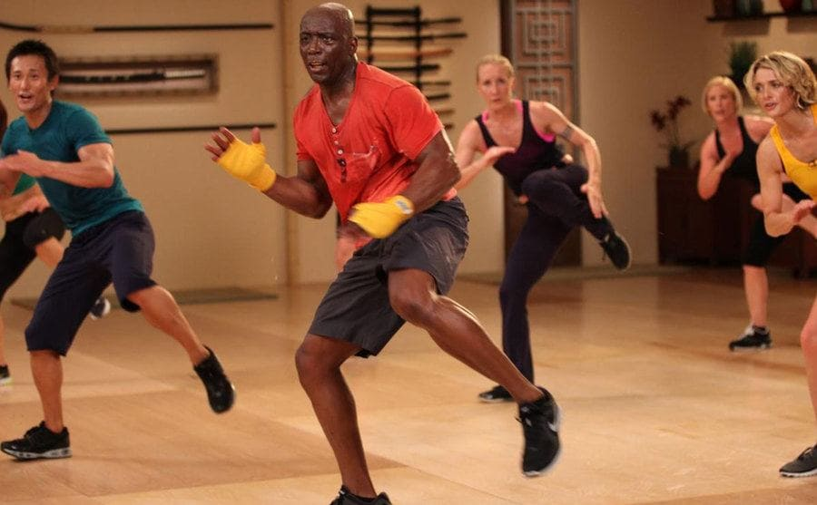 Billy Blanks leading a Tae Bo class