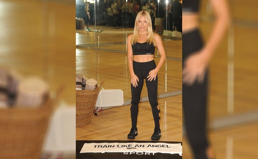 Tracy Anderson about to lead a 'Train Like an Angel' workout