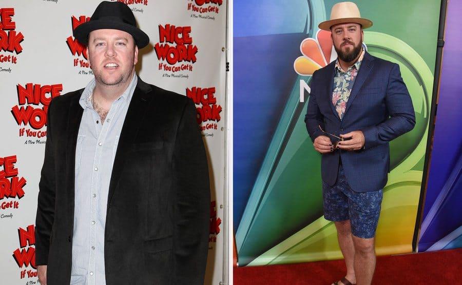 Chris Sullivan in 2012. / Chris Sullivan in 2017.