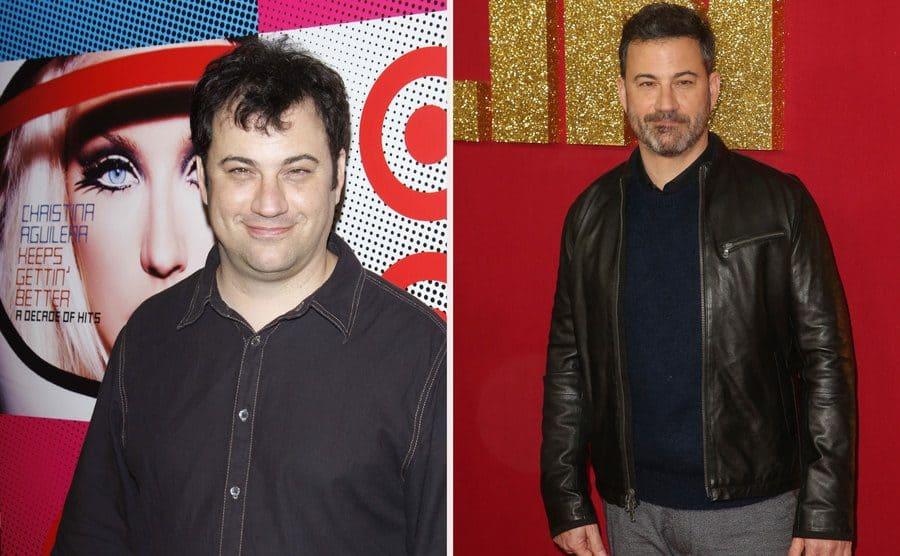 Jimmy Kimmel in 2008. / Jimmy Kimmel in 2018.