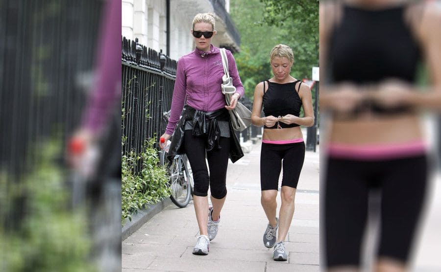 Gwyneth Paltrow leaving the gym with her personal trainer, Tracy Anderson