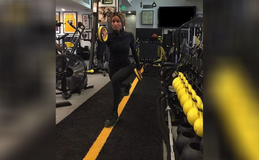 Ciara working out