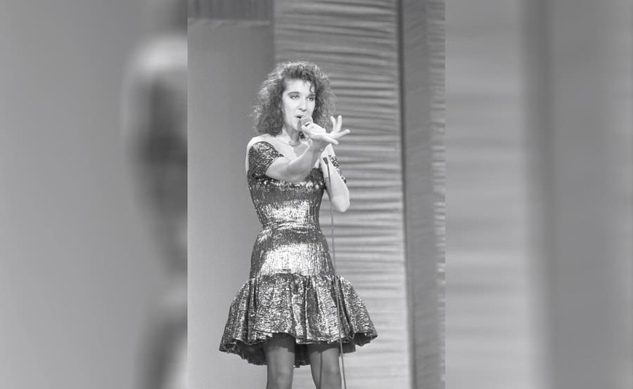 Celine Dion at a young age performing.