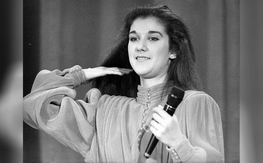 Celine Dion was performing as a young girl.